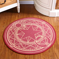 Kids Bedroom Carpet Cartoon Pink Sakura Magic Circle Children Round Play Carpet Computer Chair Hanging Basket