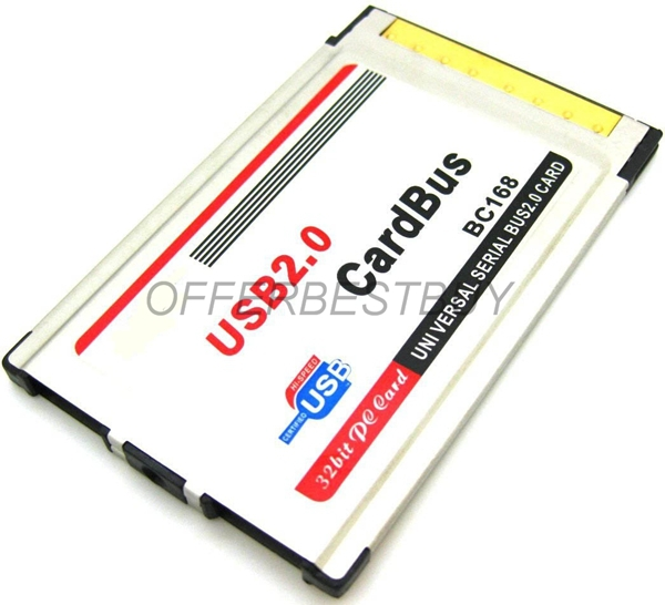 2 Port USB2.0 USB 2.0 Hub to CardBus PC Card PCMCIA Adapter NECChipset UPD720101(China (Mainland))