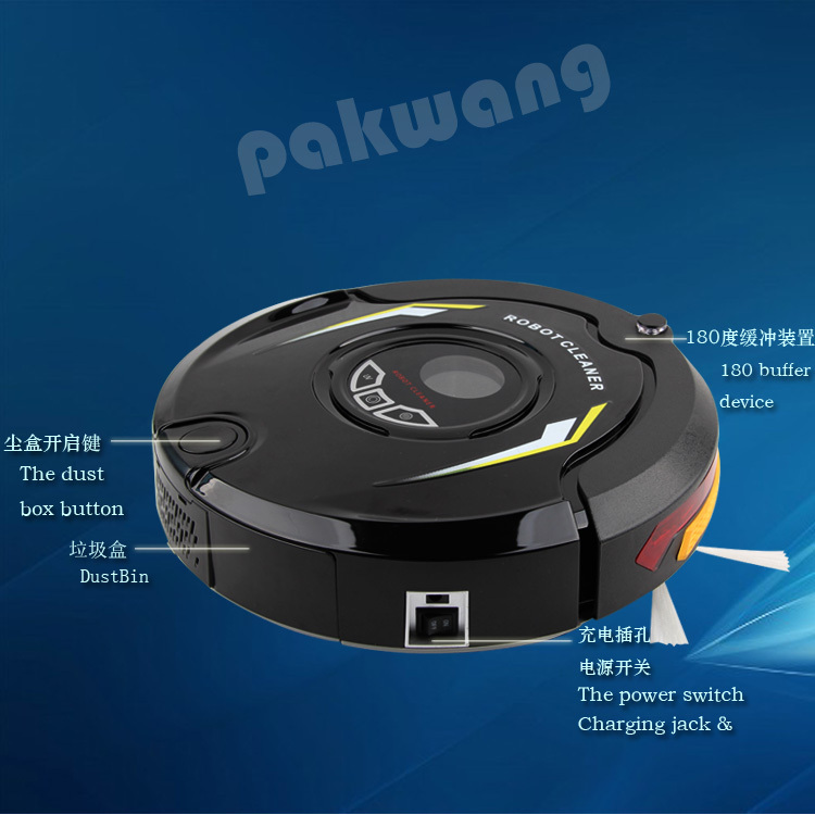 robot vacuum cleaner wet and dry with remote control house keeper Model No.EG-510D white(China (Mainland))