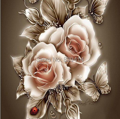 Rose Needlework diy diamond painting cross stitch square embroidery Home Decoration 5D - Online Store 839414 store