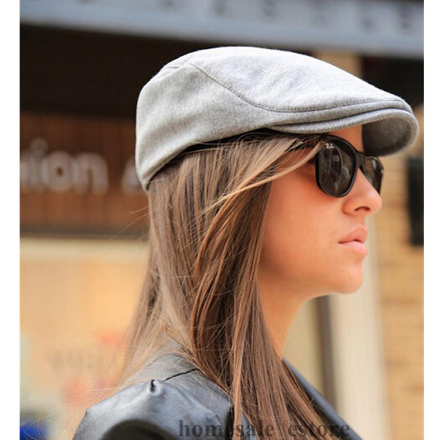 Classic Mens Women Vintage Beret Peaked Cap Cabbie Newsboy Flat Hat Driver Golf Spring Solid Color Cotton Caps  -  Lason Online Store store