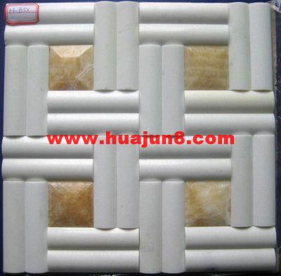 Marbles mosaic tiles(601-0039) for kitchen backsplash or bathroom tile wall-white onyx sawn(China (Mainland))
