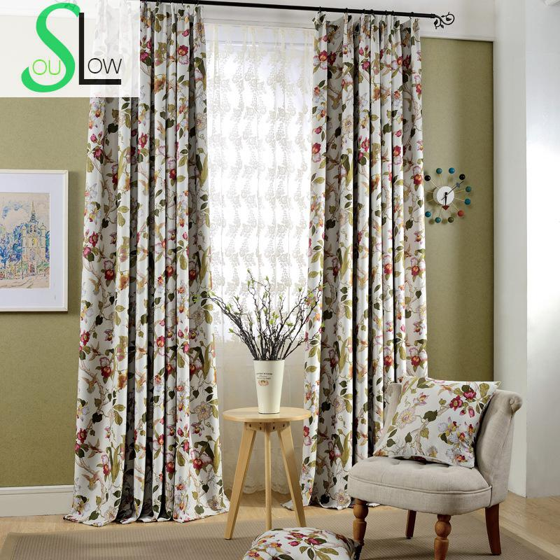 Luxury floral printed curtains europe style blackout for Cortinas black out