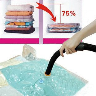 12 PCS/ LOTWholesale Free shipping Hot Sale Large Space Saver Saving Storage Bag Vaccum Seal Compressed Organizer M-046(China (Mainland))