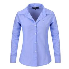2016 New Women Long Sleeve Pure Color Striped Blouses Turn Down Collar Casual High Street Woman Fashion Shirts Blusas Feminino(China (Mainland))