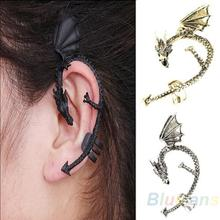 Hot Selling Retro Vintage Gothic Rock Punk Twine Dragon Shape Ear Cuff Clip Earring Earrings Women Men Sale 05IJ(China (Mainland))