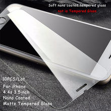 AiSMei 10PCS / Lot For IPhone 4 Nano Coated Matte Tempered Glass For iPhone 4S Screen Protector 9H 0.26mm Pprevent oil