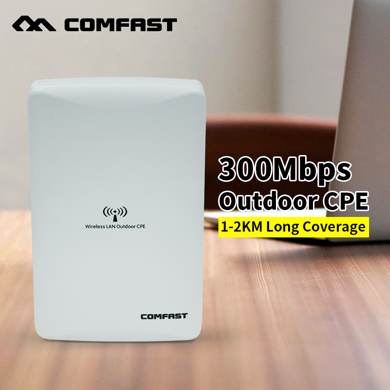 Long range Comfast Wireless Outdoor wifi CPE 300mbps WIFI signal booster Amplifier AP Dual 16dBi Antenna wi fi access point(China (Mainland))