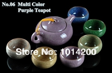 Chinese kung fu Calvings glaze tea sets 7pcs set gift box with 1pc binglie ceramic teapot