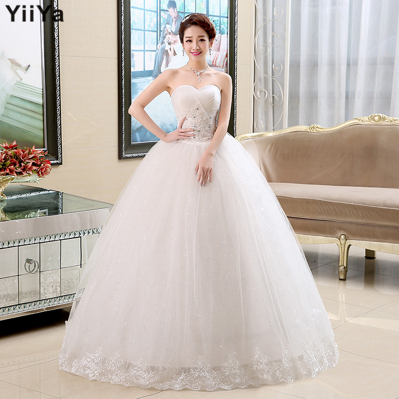 Free shipping 2015 cheap price under 50 wedding dresses for White wedding dress cheap