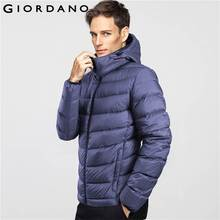 Giordano Men Down Jacket White Goose Down Warm Hood Detachable Downs Padded Jacket Long Sleeves Clothing Homme Warm Winter(China (Mainland))