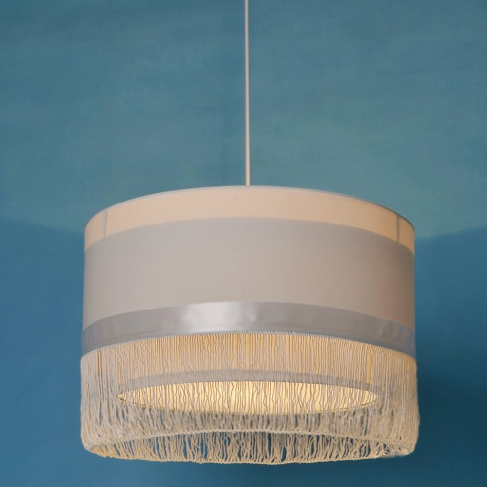 New diy italy brand fabric lampshade pendant light dining room lustre ikea su - Ikea suspension papier ...