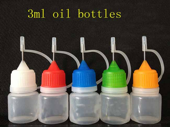 Plastic bottle 3ml Empty Needle Dropper electronic cigarette liquid bottles e oil 100s - Services Home store