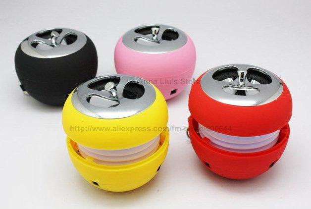 Mini USB Speaker/Apple Shape Mini Speaker/Speaker with Key Chains & 20PCS/Lot EMS/DHL Free Shipping(China (Mainland))