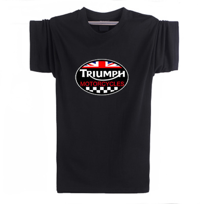 New Fashion Summer GREAT BRITAIN TRIUMPH MOTORCYCLE Short Sleeve T-shirt Men Cotton Casual Short Sleeve T Shirt XS-XXL(China (Mainland))