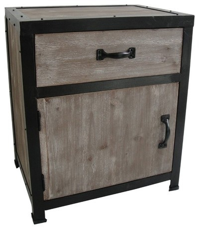 American country furniture, wrought iron nightstand retro to do the old wood corner cabinet drawer storage cabinets lockers<br><br>Aliexpress