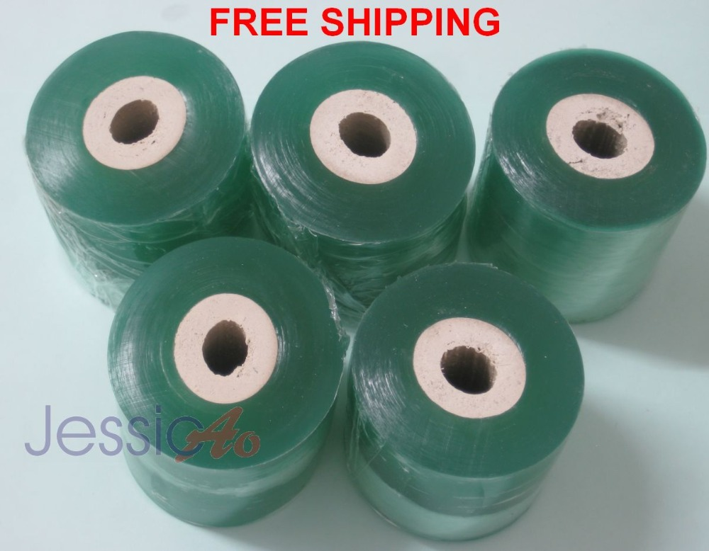 Plastic PE Film stretch cling tape packing wrapping film 50mm plastic membrane Transparen Cling Tape 10pcs/lot FREE SHIPPING(China (Mainland))