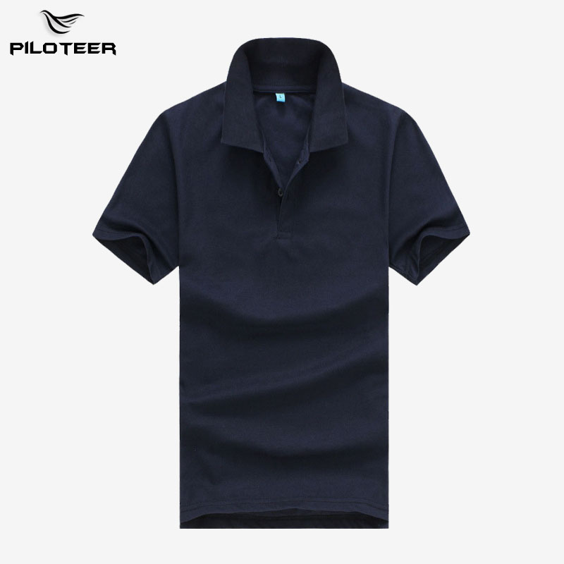 Piloteer Brand New Men's Polo Shirts Summer Style Polos Short Sleeve Solid Shirt Sports Jerseys Golf Tennis Blouse Wholesale(China (Mainland))
