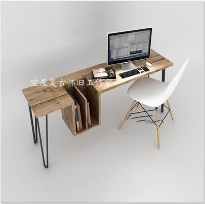 American Village Loft Industrial Wind Nordic Iron Desk
