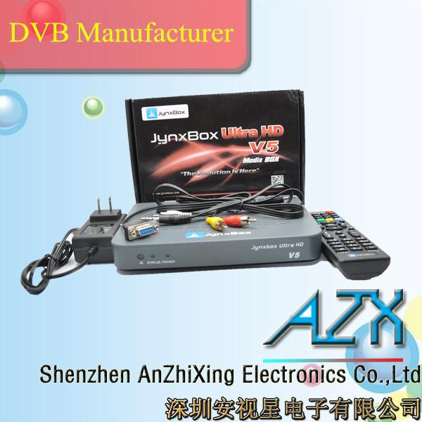 dvb s2 set top box satellite dish antenna receiver jynxbox ultra hd v5(China (Mainland))