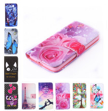 Buy New two side Painted wallet Phone cover Rose Flower Tower pattern Flip Leather Case Apple iPhone 4S iPhone 4 for $2.55 in AliExpress store