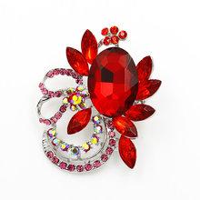 Vendita Diretta della fabbrica Di Cristallo Diamante e Rosso Blu Chiaro Acrilico Stones Fiocco Spilla Spilli in colori assortiti(China)