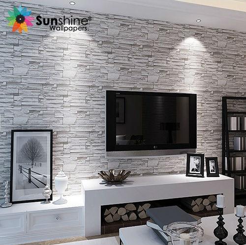 Sole mattoni carta da parati stile vintage carta di parete per soggiorno/diva...