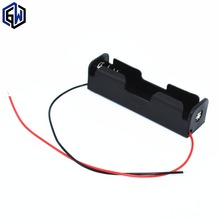 18650 Battery Li-ion 3.7V Clip battery holder Box Case Black With Wire Lead battery holders 10Pcs(China (Mainland))