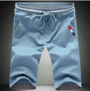 2015 мода лето хлопок шорты мужчин свободного покроя шнурок карманы, Большой размер промывали шорты бермуды мужской Masculina бесплатная доставка