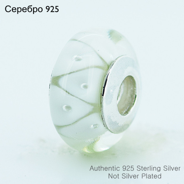 Муранского стекла бусины 925-Sterling-Silver женщин DIY ювелирных изделий подходит пандоры прелести браслет A606E