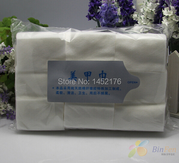 Free Shipping 900pcs/lot Lint Free Nail Art Manicure Polish Remover Cleaner Wipe Cotton Pads Paper(China (Mainland))