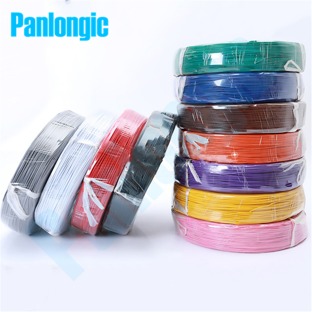 Panlongic 55 Meters UL1007 Electronic Wire 11 Colors 22awg OD1.6mm PVC Electronic Wire Electronic Cable UL Certification #22