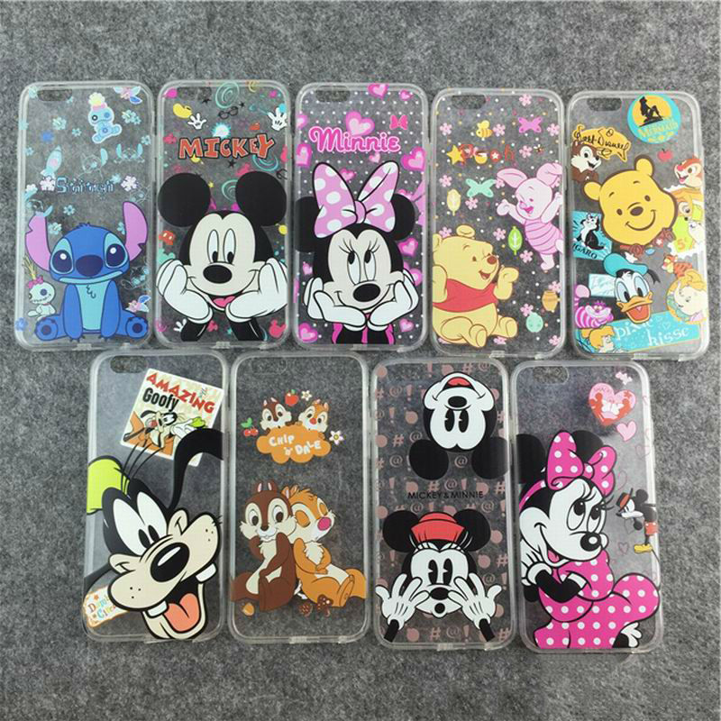 "New Hot Cartoon Mickey Minnie Bear Dogs Animal Image Soft TPU Phone Back Cover Phone Case For Iphone 6Plus 6SPlus 5.5"" YC1306(China (Mainland))"