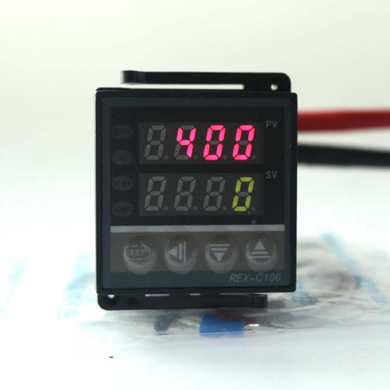 Dual Digital PID Temperature Controller REX-C100 with thermocouple K, Relay Output<br><br>Aliexpress