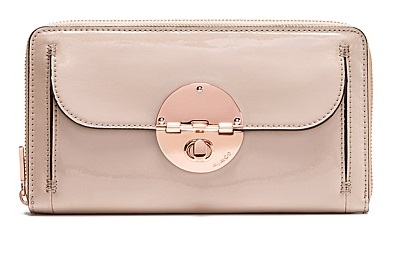 NEW FREE SHIPPING MIMCO TURNLOCK TRAVEL WALLET ROSE GOLD BLUSH PINK AUTHENTIC RRP$229  Women Wallets  leather<br><br>Aliexpress