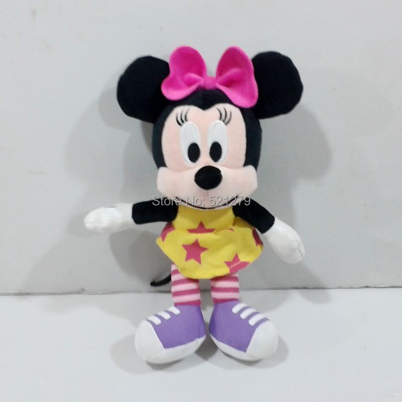 Free shipping 1pcs 24cm Minnie mouse plush soft dolls,Minnie mouse toys for kids gift,best gift for kids(China (Mainland))