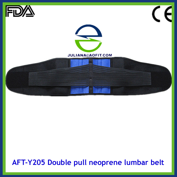Neoprene Double Pull Lumbar Back Brace Belt Support