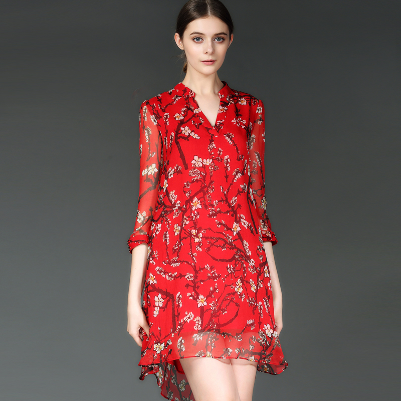 2016 Spring Summer Dress Women Elegant Floral Printed Loose A-line Women Dresses Ladies Dress High Quality DS23Одежда и ак�е��уары<br><br><br>Aliexpress