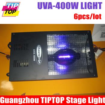 Freeshipping 6pcs/lot UVA-400W black light long type professional stage light black purple light 650W for theater party dj club