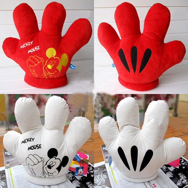 2016 Valentine's Day Gift MICKEY gloves 1pc Cotton Plush toy christmas day gift MICKEY double faced big cushion pillow(China (Mainland))