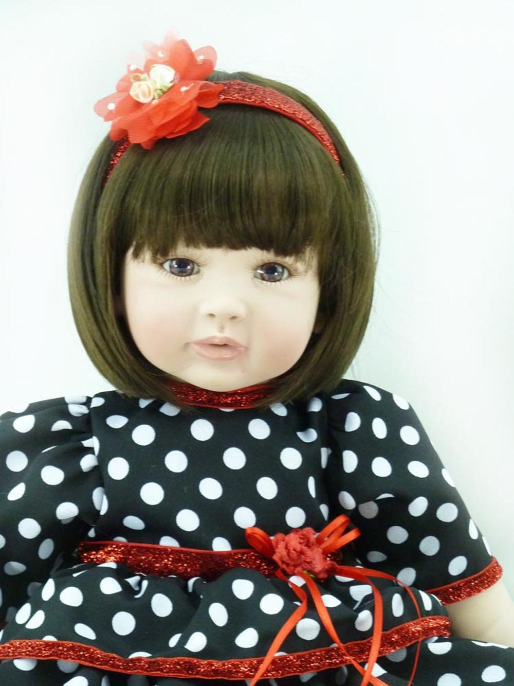22inch 55cm Silicone baby reborn dolls, lifelike doll reborn babies toys for girl princess gift brinquedos  Childrens toys<br><br>Aliexpress
