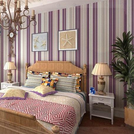 Girls Bedroom Wallpaper Modern Purple Stripe Wallpaper
