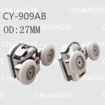 metal roller OD:27mm sliding door pulley shower room hardware(China (Mainland))