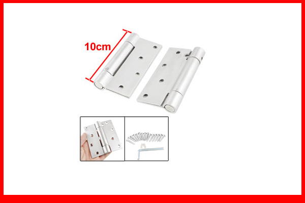"""Silver Tone Stainless Steel Cabinet Closet Door Butt Hinge 3.9"""" Long Pair(China (Mainland))"""