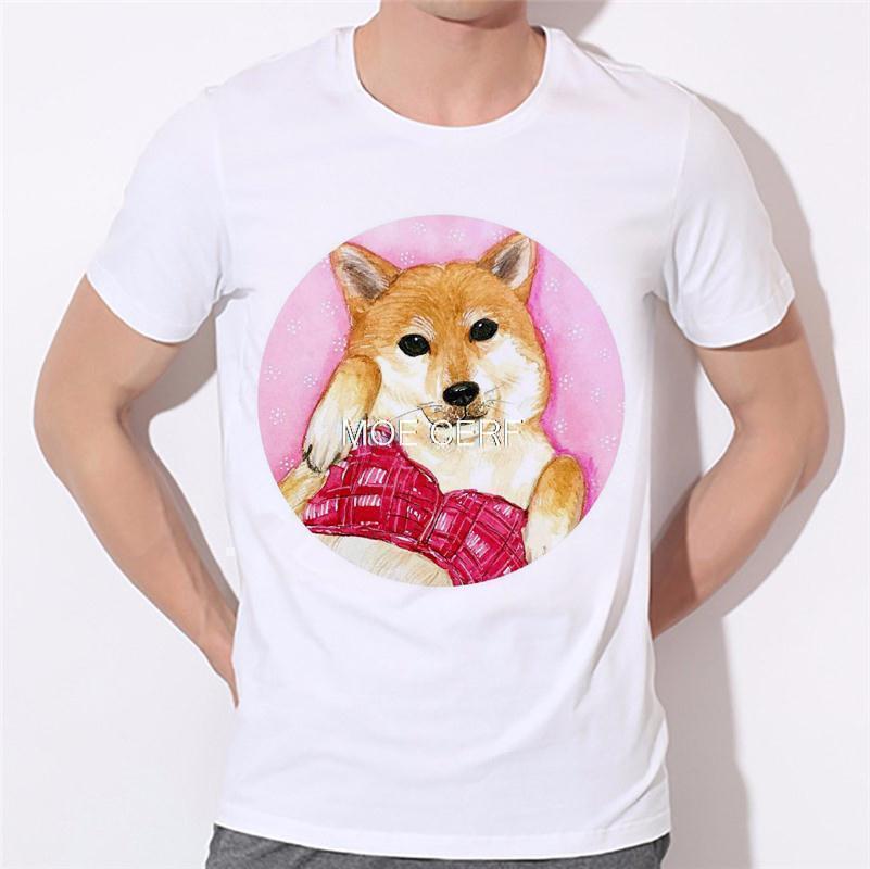 Dreams of becoming a lion dog pattern printing men's T-shirt 3D T Shirts Men Mens Tees Dog Pug Men t shirt Short Sleeves B-138#  HTB1scivKVXXXXcpXXXXq6xXFXXXD