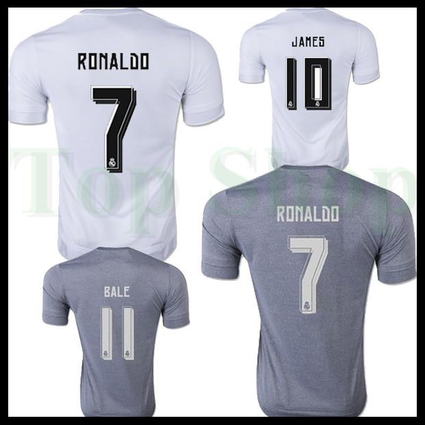 2016 XXL XXXL 4XL 5XL Real Madrid jerseys Top thai Quality Soccer jerseys 15 16 Real Madrid ronaldo james bale Football shirt(China (Mainland))