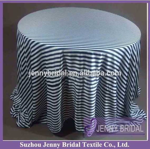 "TC062C 90"" wholesale banquet wedding decoration Black And White Striped table cloth designs(China (Mainland))"