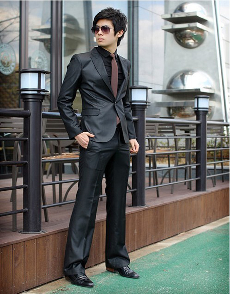 66-Free Shipping New 2015 man suit classic Fashion grooms man suits! Men's Blazer Business Slim Clothing Suit And Pants