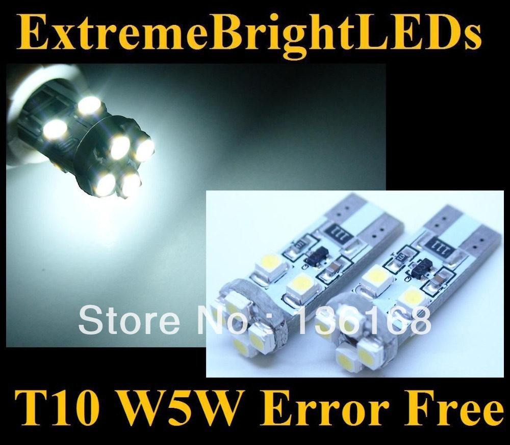 Top seller super brightness License/side/Interior Light T10 8smd canbus led<br><br>Aliexpress