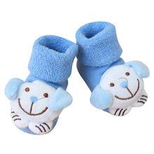חמוד Cartoon יילוד תינוק גרבי calcetines ילדים תינוק בנות בנים אנטי להחליק חורף גרביים חמים נעלי נעלי מגפי meias(China)